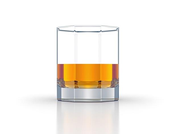 Criativo de uísque scotch bourbon isolado no fundo branco
