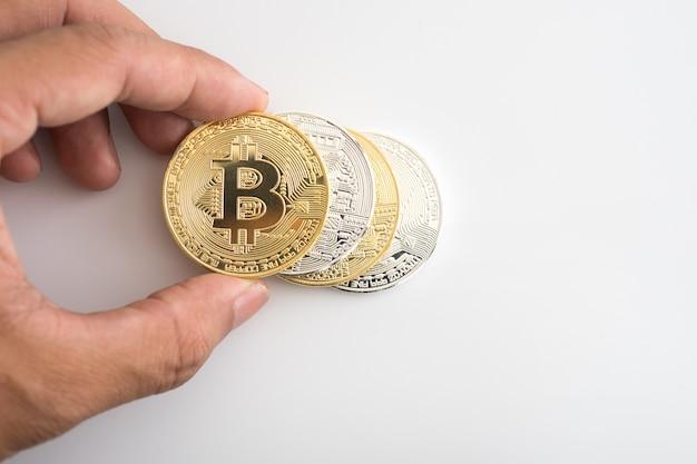 Criptomoeda bitcoin de ouro
