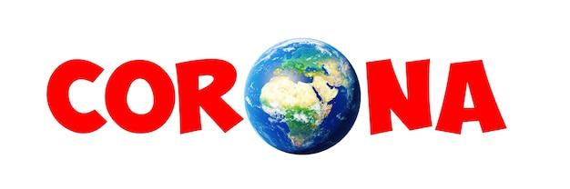 Crise do vírus corona em todo o mundo. ilustração 3d