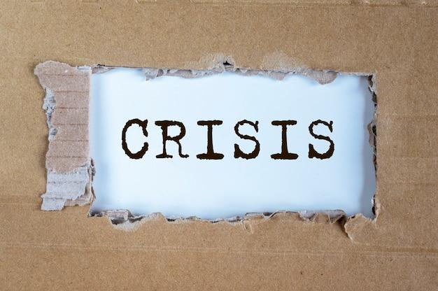 Crise nos negócios. inscrição sobre problema financeiro e declínio econômico.