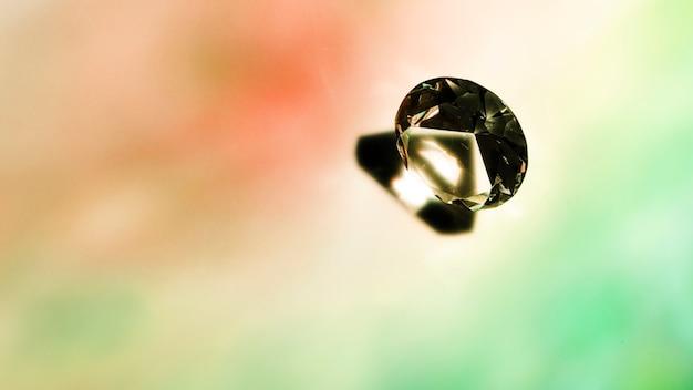 Cristal brilhante redondo em fundo colorido
