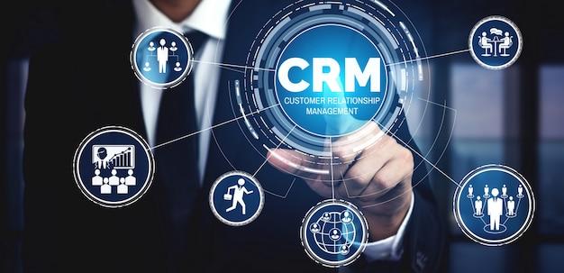 Crm customer relationship management para o conceito de sistema de marketing de vendas de negócios