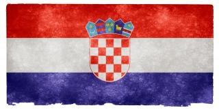 Croácia grunge bandeira