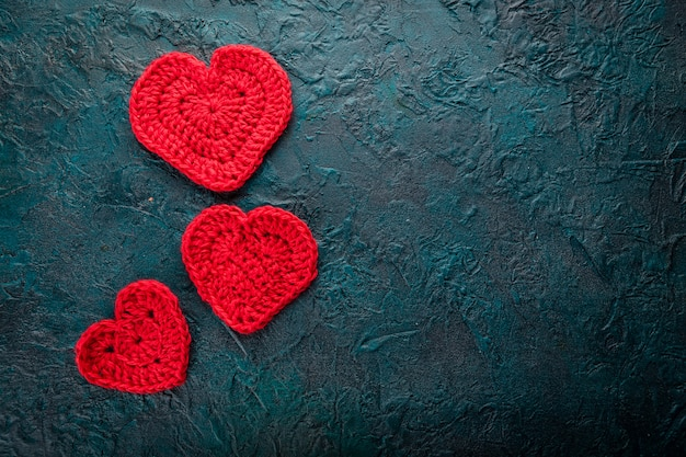 Crochê corações dos namorados.