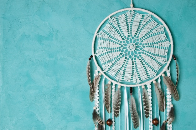 Crochet crochê doily dream catcher