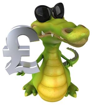 Crocodilo divertido - ilustração 3d