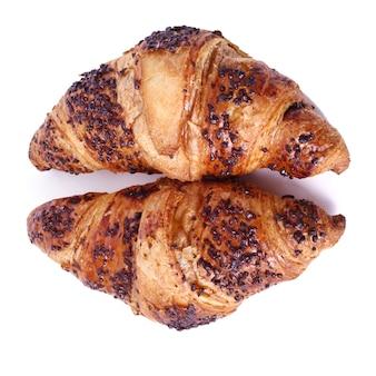 Croissants em cima da mesa