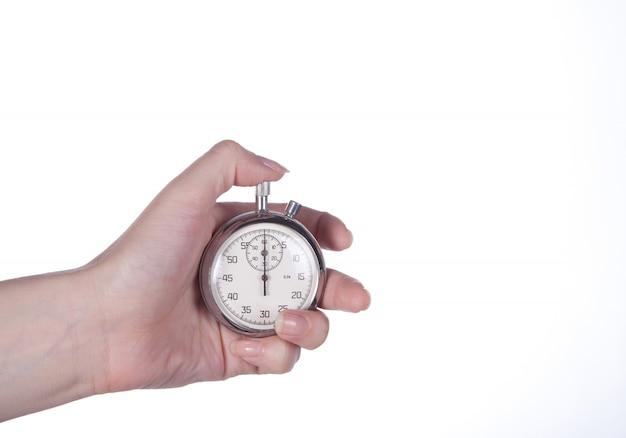 Cronômetro na mão