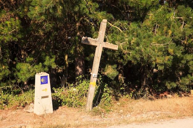 Cruz ao longo do caminho de st. james