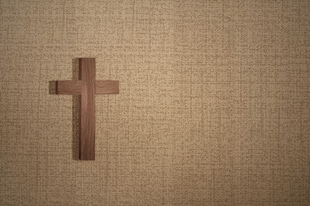 Cruz cristã com fundo texturizado