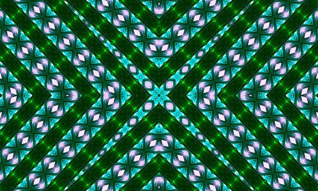 Cruz verde no backgroynd rosa. ornamento simples com pequenas silhuetas de flores, formas de diamantes, cruzes, setas, grade. fundo abstrato na cor rosa, rosa, verde e bege. design elegante.