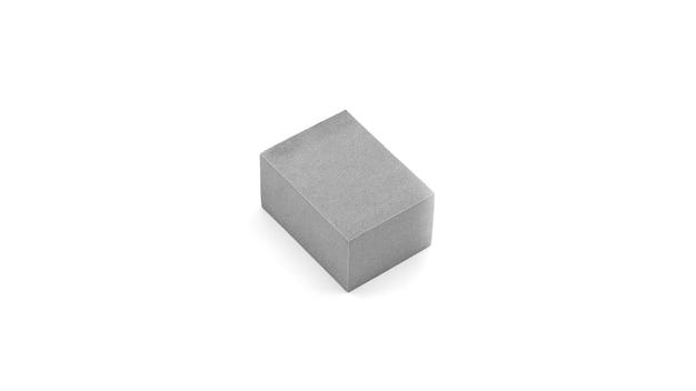 Cubo cinza isolado no branco