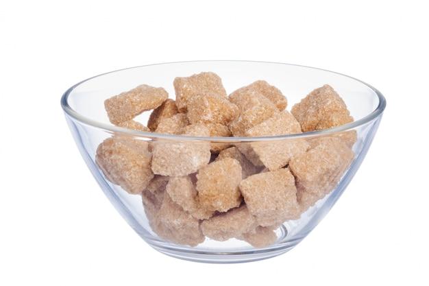 Cubo de açúcar na tigela