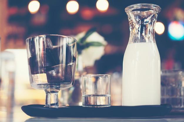 Cubo de gelo de café com leite, café café