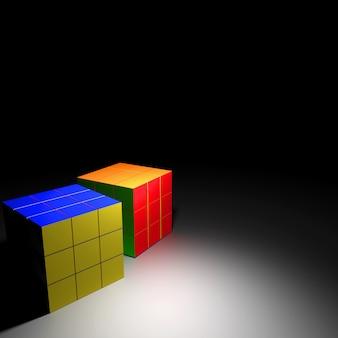 Cubo de rubik, renderização em 3d