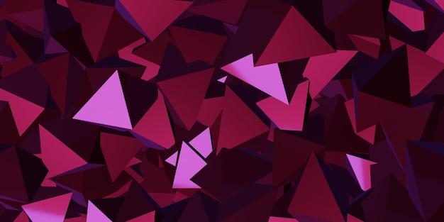 Cubo triângulo reflexivo ilustração 3d do fundo abstrato
