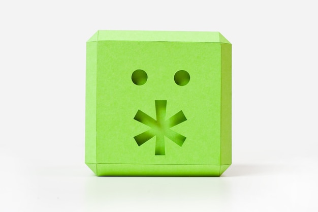 Cubo verde com asterisco