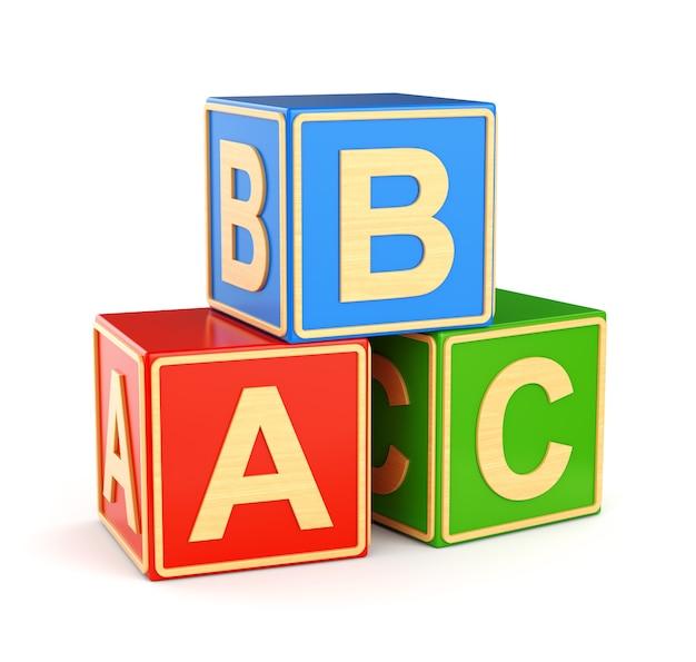 Cubos de alfabeto abc