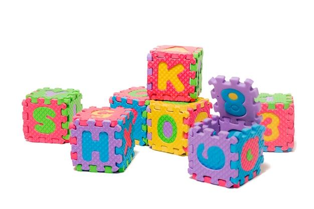 Cubos de carta de quebra-cabeça de espuma