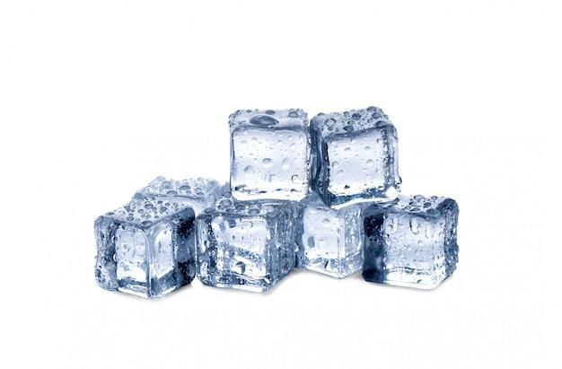 Cubos de gelo branco