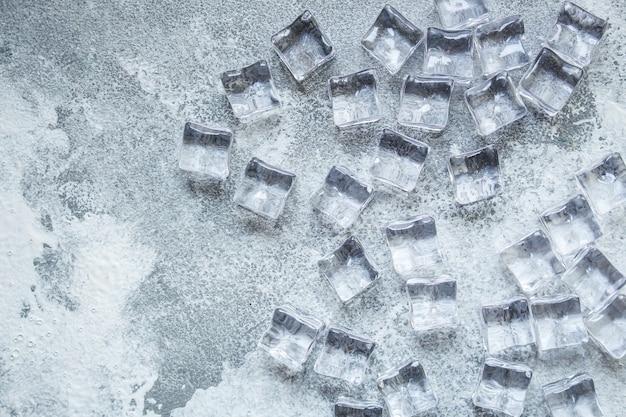 Cubos de gelo imitando peças de plástico artificiais acrílico transparente não frio real