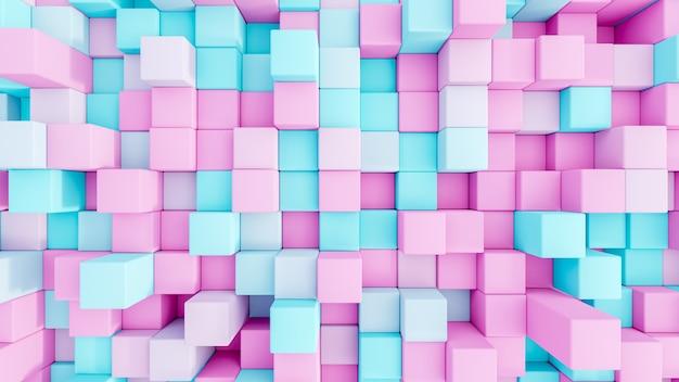 Cubos de renderização 3d abstratasuperfície sem costura