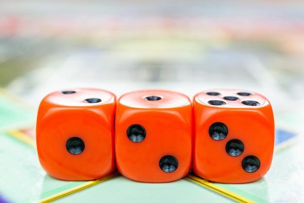 Cubos no jogo de tabuleiro