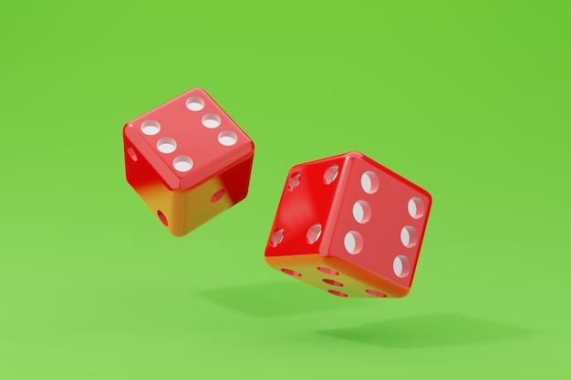 Cubos para o cassino. dados definir ilustração 3d.