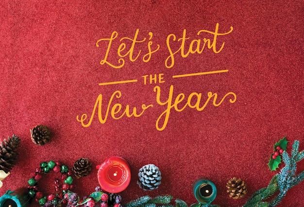 Cuidado do amor da paz de ano novo