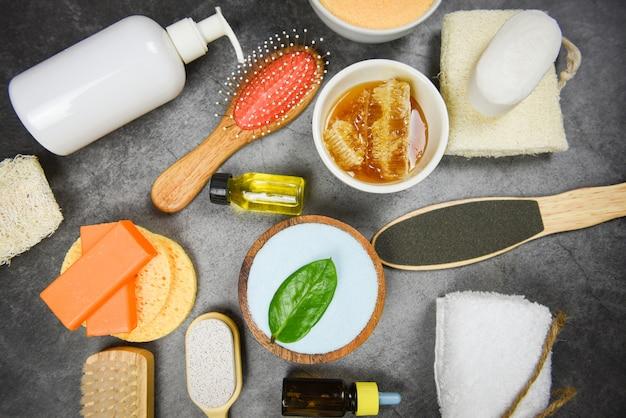 Cuidados com o corpo natural, dermatologia herbal, creme higiênico cosmético para o tratamento da pele, objetos de higiene pessoal