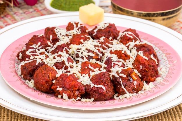 Culinária indiana manchurian vegetal