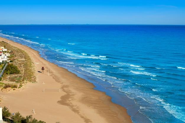Cullera dosel praia aérea mediterranean spain