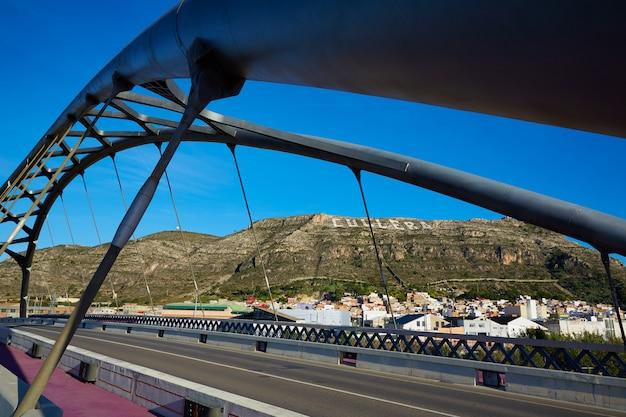 Cullera ponte sobre o rio xuquer jucar de valência