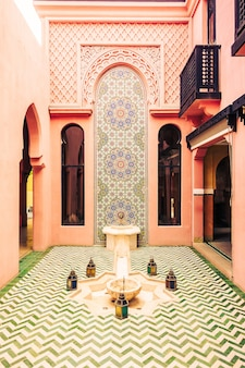 Cultura mosaico piscina arabic arte
