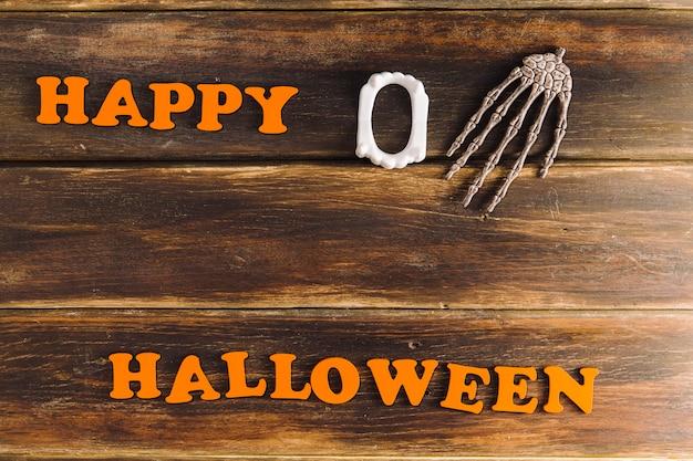 Cumprimento assustador de halloween