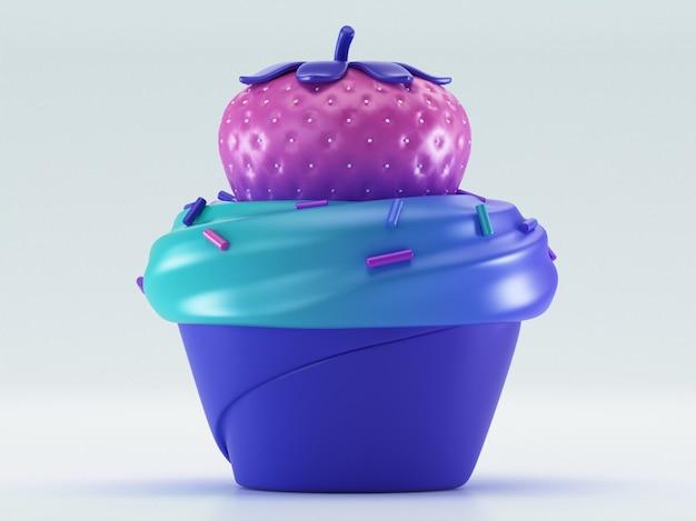 Cupcake com morangos
