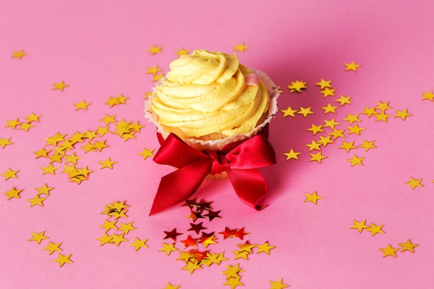 Cupcake na mesa