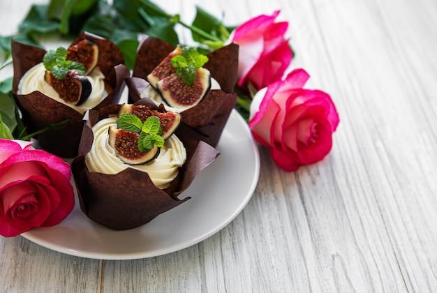 Cupcakes com figos