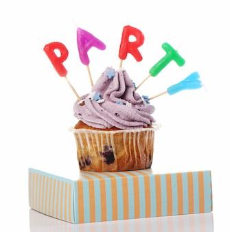 Cupcakes de aniversário com cores mais recentes