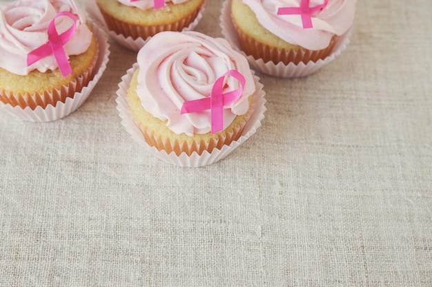 Cupcakes de flor rosa