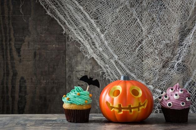 Cupcakes de halloween e abóbora