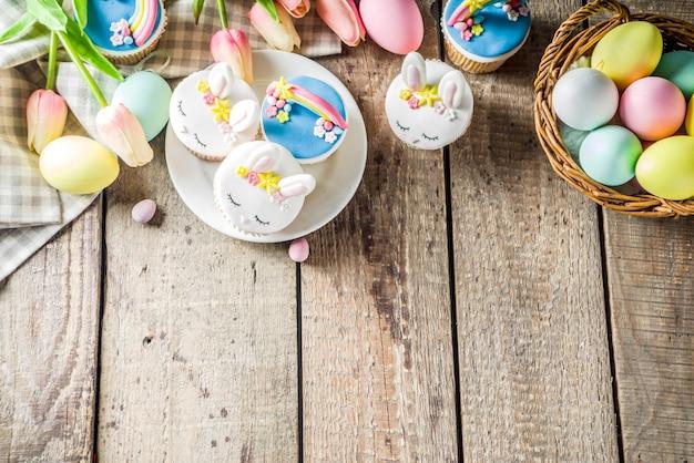 Cupcakes de páscoa caseiros fofos