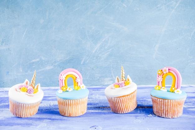 Cupcakes de unicórnio fofo
