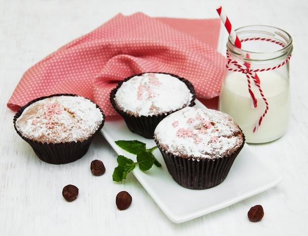 Cupcakes e leite
