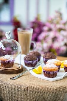 Cupcakes no café da manhã