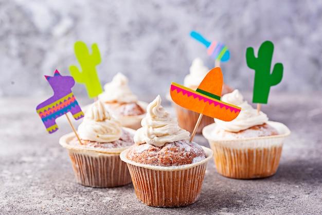 Cupcakes para celebrar a festa mexicana