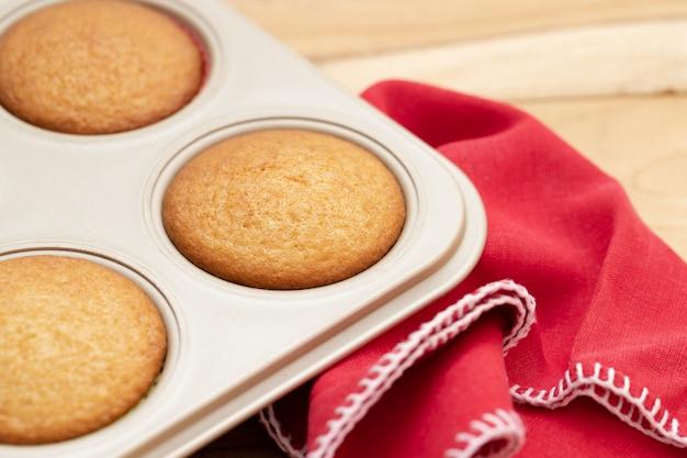Cupcakes recém-assados para o natal