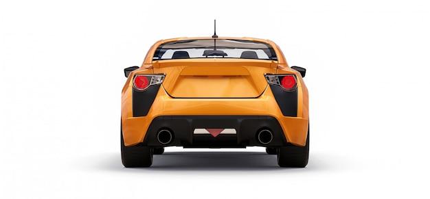 Cupê de carro esportivo pequeno amarelo