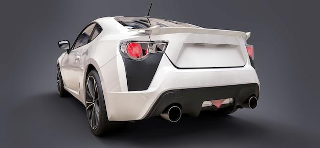 Cupê de carro esportivo pequeno branco