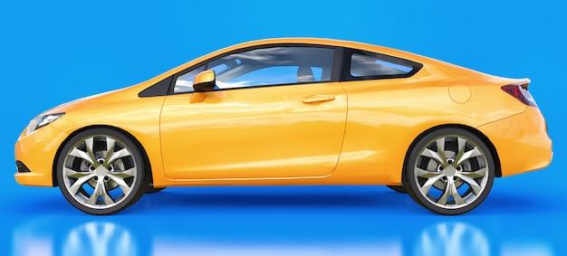 Cupê de carro esportivo pequeno laranja
